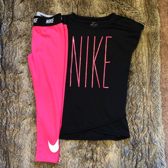 d432df6b74ff Nike Girls Athletic Shirt and Leggings Size 6. M 5cad070f8d653d79ac625dbe